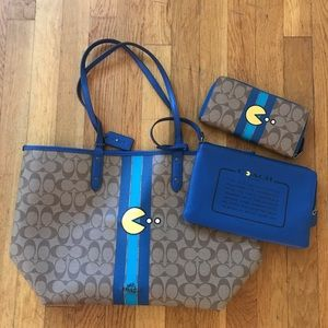 Coach Pac Man Tote and Wallet